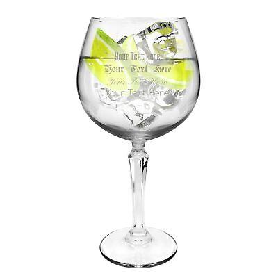 Ginsanity Personalised Speakeasy Gin & Tonic Balloon Glass - 585ml