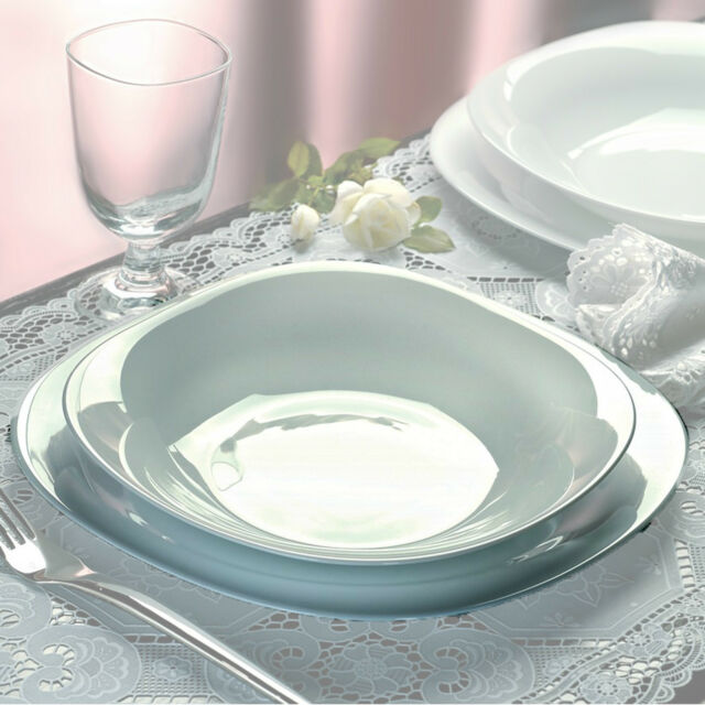 Exceptionnel Bormioli Rocco Parma 18 Pcs Dinner Service Set Opal Glass Tableware Dining  Plate