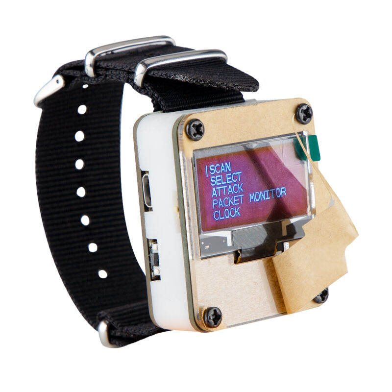 WiFi Test Tool ESP8266 Deauther Watch W/ Oled Dispaly Wristband 3D Printing Case