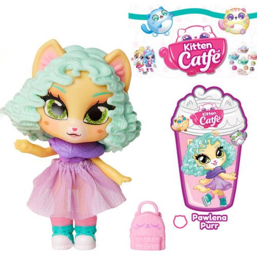 Jakks Series 2 Kitten Catfe Doll PAWLENA PURR Purrista Girls Curly Green Hair