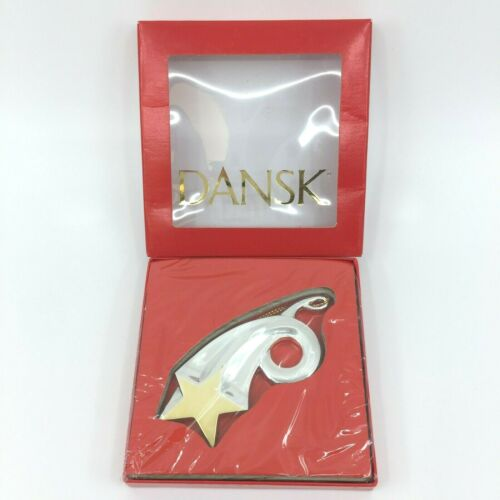 Dansk Silver & Gold Shooting Star Ornament NIB