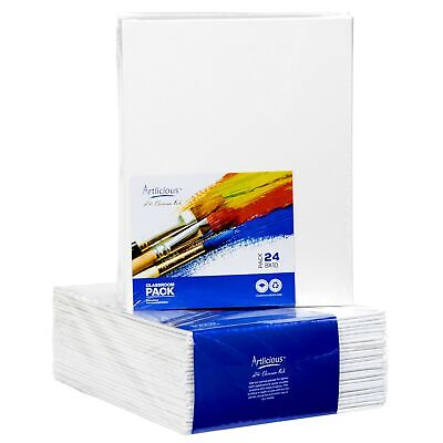 Artlicious - 8x10 Classroom Super Value 24 Pack - Artist Canvas Panel Boards ... (Canvas Boards)