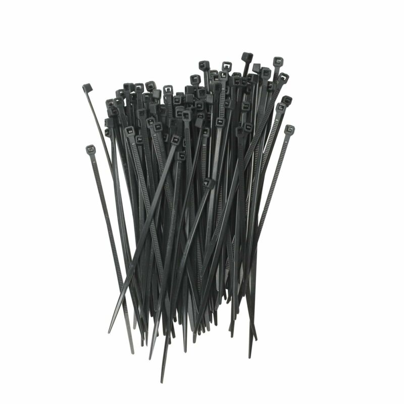 "1000 PIECES BLACK 4"" INDUSTRIAL WIRE CABLE ZIP TIES NYLON TIE WRAPS"