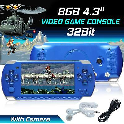 8GB Portable Handheld Video Game Console Player PSP Built-In 10000 Games 4.3″ US