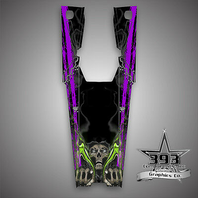 "2019 Arctic Cat Alpha M8000 M 800 165"" Tunnel Wrap Graphics Decal Wrath Skull"