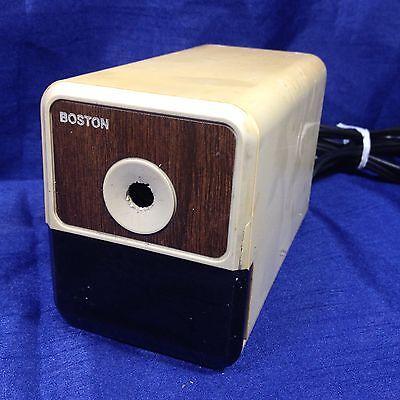Vintage Boston Electric Pencil Sharpener Beige Model 18 Made In Usa Tested Works