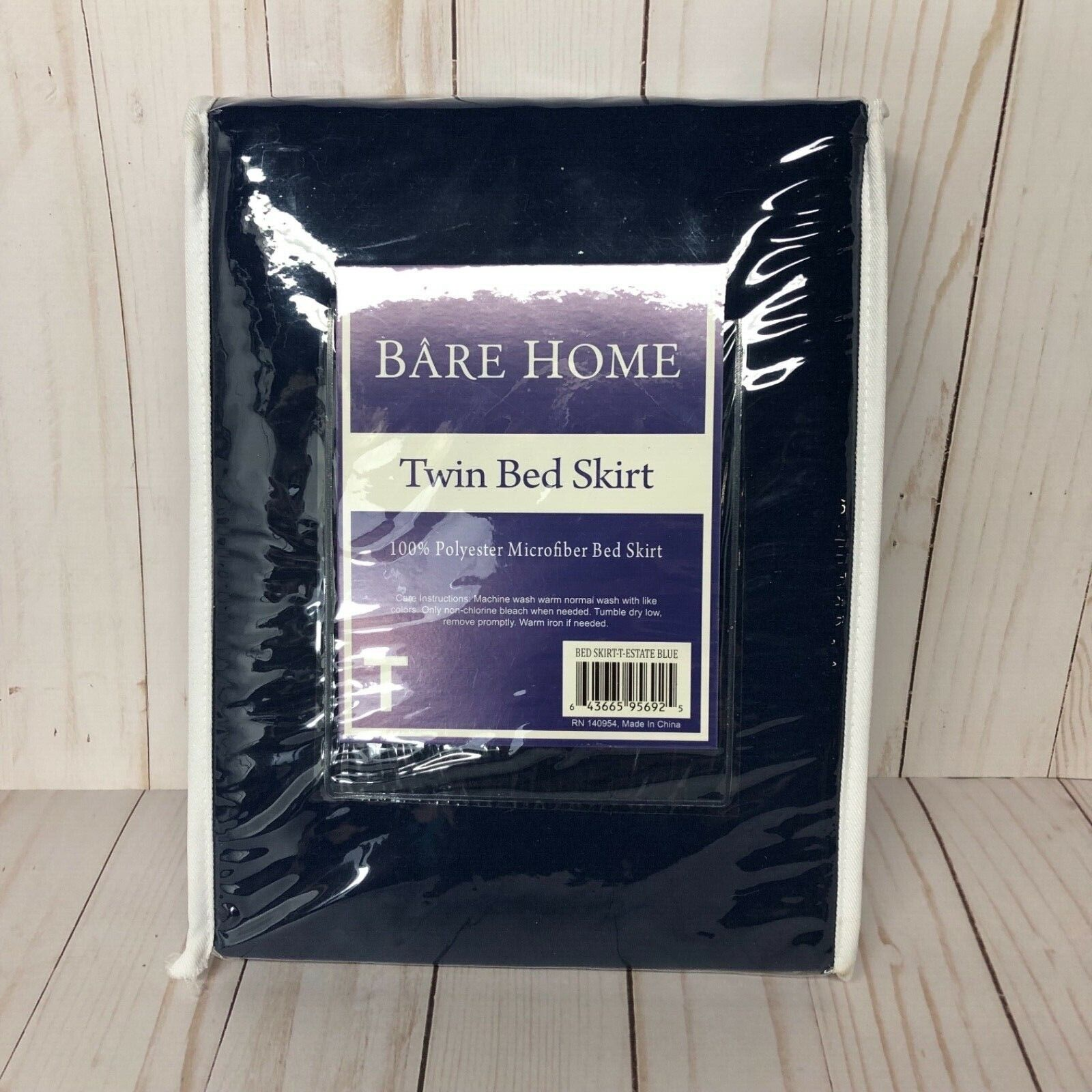Bare Home Tailored Bed Skirt/Dust Ruffle -Pleated, Box Sprin