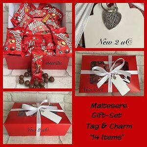 Maltesers Bumper Chocolate Gift Set Hamper /Boxed Ribbon Gift Tag Charm