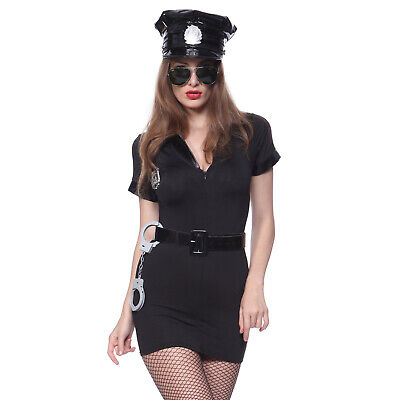 Größe L Frauen Polizei Kostüm Damen Polizistin Uniform Cop Outfit Mottoparty ()