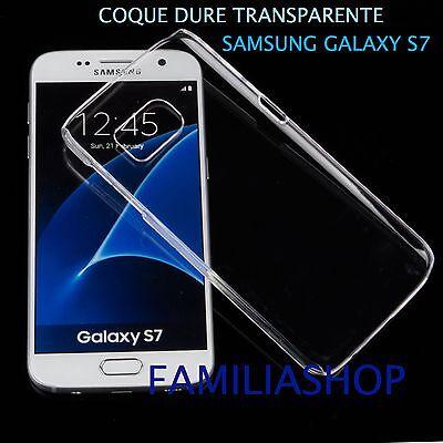 Funda Caso Billetera Carcasa Cristal Dura Rígido Transparente Samsung Galaxy S7
