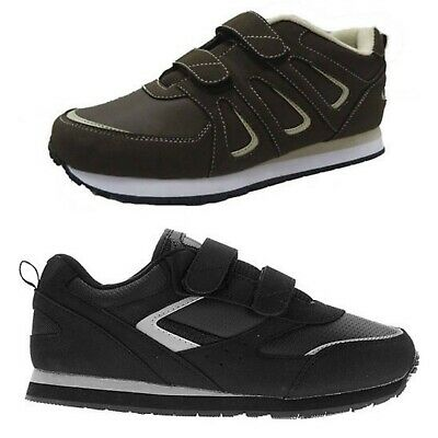 Athletic Works Men's Silver Series Wide Width Athletic Shoes Velcro Strap -