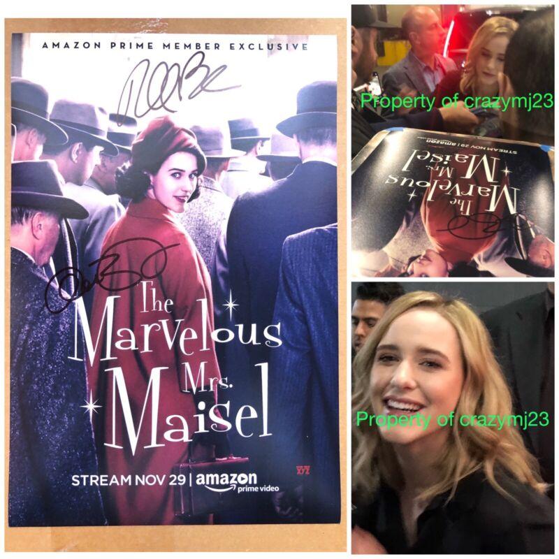 2x Signed The Marvelous Mrs. Maisel Rachel Brosnahan Alex Autograph Exact Proof