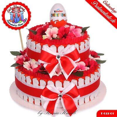 ❀ Süßigkeiten Geschenk Torte Rote Blume für Mädchen zum Geburtstag Kinderriegel (Geburtstagsgeschenke Für Mädchen)