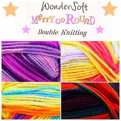 Stylecraft Wondersoft MERRY GO ROUND DK Acrylic Double Knitting Yarn Wool 100g