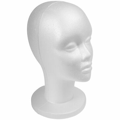 Shany Styrofoam Model Head - Wig Mannequin - 12 Inches Female Head With Stand -