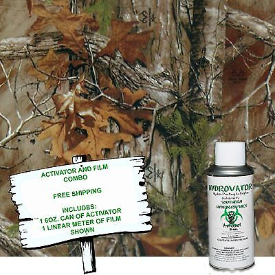HYDROGRAPHIC FILM WATER TRANSFER HYDRO DIP 6OZ. ACTIVATOR W/ AUTUM CAMO DIP KIT
