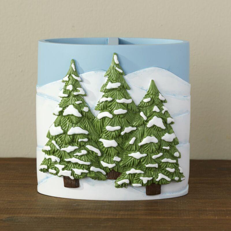 Christmas Winter Evergreen Tree Bathroom Countertop Toothbrush Holder