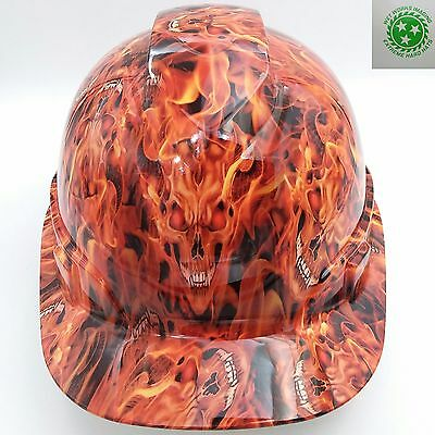 Hard Hat Custom Hydro Dipped Osha Approved Inferno Hell Raiser