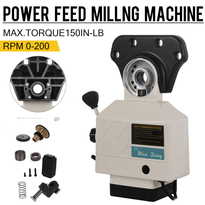 AS-250 150lbs Torque Power Feed for X Axis Vertical Milling Machine 0-200 RPM