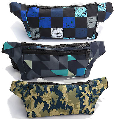 Party Fanny Pack (New Geometric Camo Fanny Pack Waist Pouch Hip Bag Punk Party Colorful Festival)