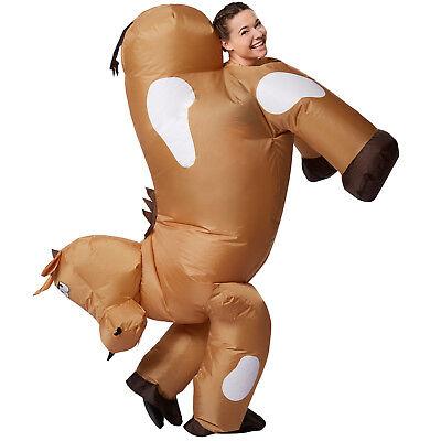 Selbstaufblasbares Unisex Kostüm Pferd BlowUp aufblasbar Fasching Karneval (Aufblasbares Pferd Kostüm)