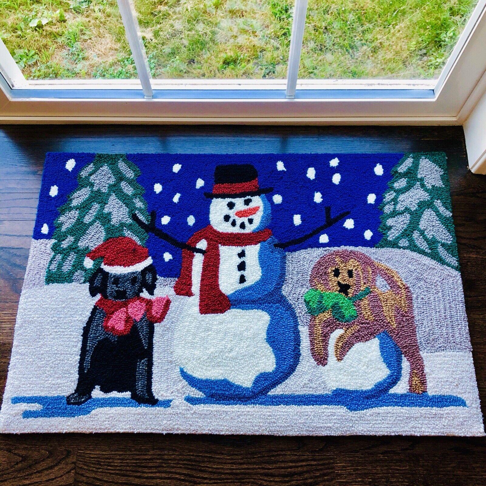 SNOW PUPPIES 20x30 Indoor/Outdoor 2x3 Rug LIORA MANNE Frontp