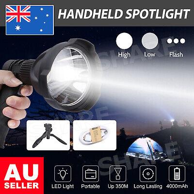 LED Handheld Spotlight Rechargeable Hunting Camping Flashlight Spot Light Torch
