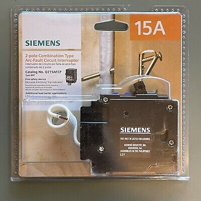 Q215afcp Siemens 2-pole Combination Type Arc-fault Circuit Interrupter