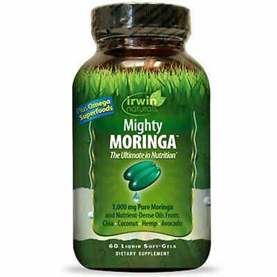 Irwin Naturals Mighty Moringa 60 Liquid Soft-Gels Preservative-Free