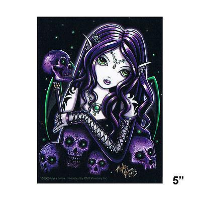 STICKER - Myka Jelina Belladonna Skulls Fairy Gothic Vinyl Decal SD53