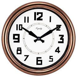 20821 Equity by La Crosse 12 Copper Analog Wall Clock
