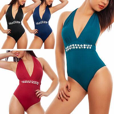 Costume intero donna moda mare swimwear monopezzo gioiello TOOCOOL WX86538