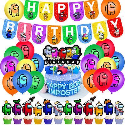 Among Us The Imposter Geburtstag Party Dekor Kinder Banner Ballon Cake Topper DE
