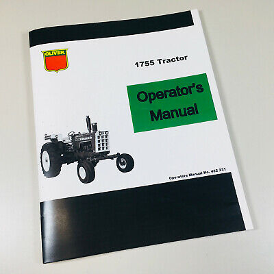 Oliver 1755 Tractor Owners Operators Manual Maintenance