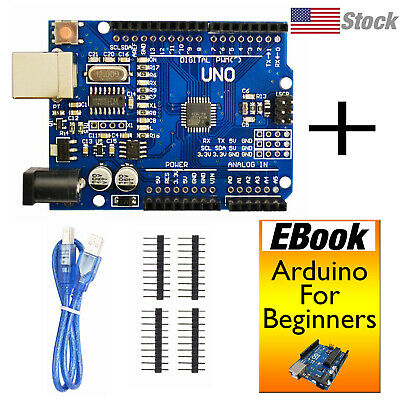 Uno R3 Board Arduino Ide Usb Programming Cable Webook Us Stock Ships Today