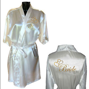 Personalised-Heart-Satin-Wedding-Robe-Dressing-Gown-Bride-Mother-Childrens