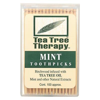 Tea Tree Therapy Toothpicks - 100 Toothpicks - Case of 12