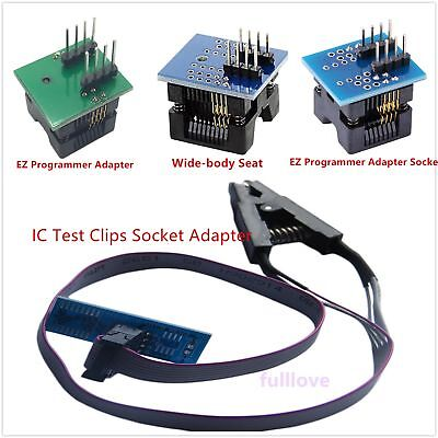 Soic8 Sop8 Flash Chip Ic Test Clips Socket Adpter Bios242593 Programmer Adapt