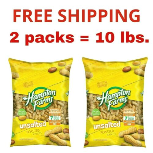 Hampton Farms Unsalted In-Shell Peanuts (5 lbs.) 2 pack.