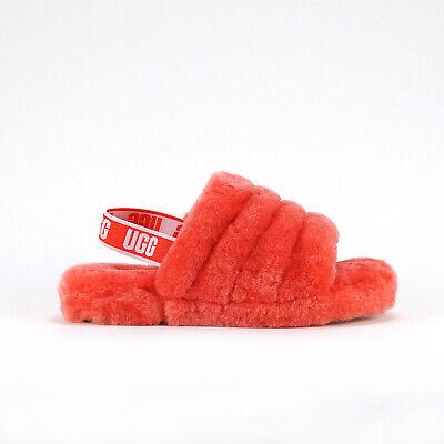 UGG Australia Big Kid's FLUFF YEAH Slide Pop Coral 1098494K-PCRL e
