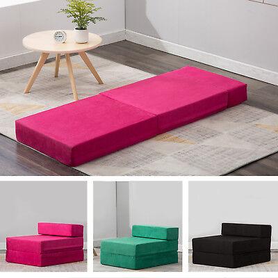 Sleeper Chair Folding Foam Bed/Mattress/Floor/Ottoman Seat Single Guest Futon