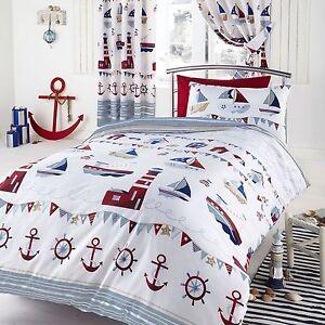 Housse de couette double motif nautique bateaux ebay - Housse de couette motif chinois ...