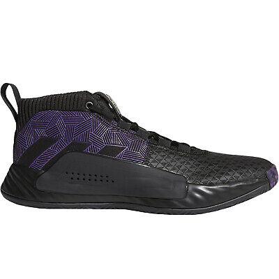 adidas Performance Mens Dame 5 Marvel Black Panther Basketball Shoes - Black