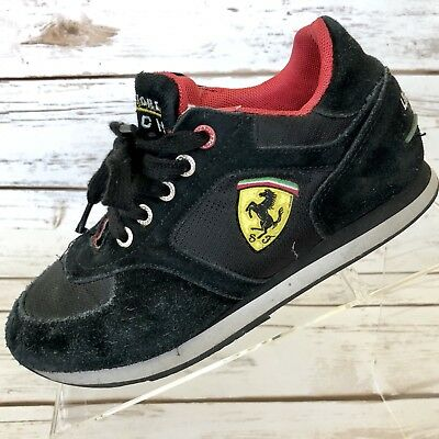FERRARI Sneakers Women's Size 35 5 US Ferrari Store Munich Black Suede Limited