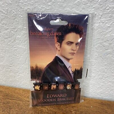 Twilight Saga Edward Cullen Wooden Stretch Bracelet Breaking Dawn Part 1 NEW
