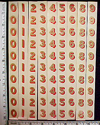 "Post Office Box Door 100 Original11/16""Decals-NewOld Stock,read descript MadeUSA"