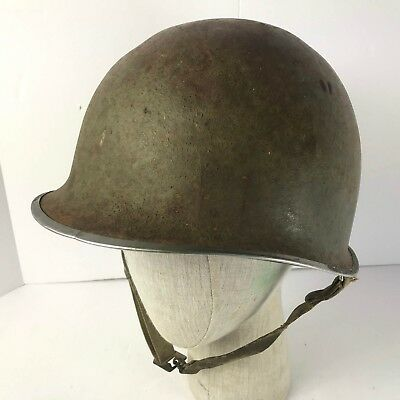 Original WW2 US Fixed Bale M1 Helmet with Chinstrap and Capac Liner for sale  Litchfield Park
