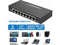 10//100//1000Mbps 5 Port Fast Ethernet LAN Desktop RJ45 Network Switch Hub Adapter