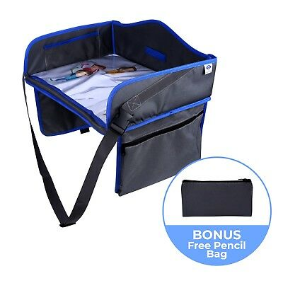 Kids Car Seat Travel Tray - Portable Toddler Activity Table for Eating & Playing Car Seat Tray Table