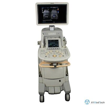 Philips Iu22 Ultrasound System Cart Revision D.2 With C5-1 C8-4v C8-5 Probes